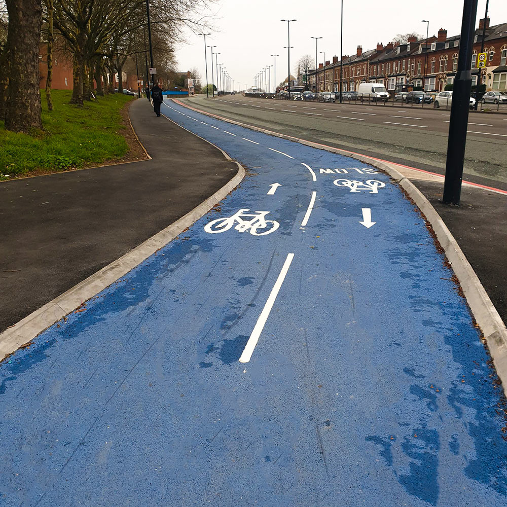 A34 Birmingham Cycleway feature